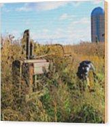 Retired John Deere Tractor 2 Wood Print