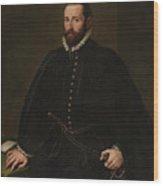 Retrato De Caballero   Wood Print