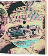 Retro Roadvival Wood Print