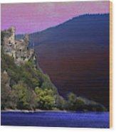 Rheinstein Castle Wood Print