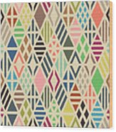 Rhombuses Seamless Pattern. Geometric Wood Print