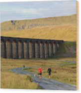 Ribblehead Viaduct In Late Autumn North Yorkshire Wood Print