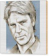 Richard Dean Anderson Color Wood Print