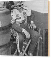Richard Petty Sitting In Directors Chair Wood Print