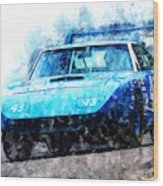 Richard Petty Superbird Wood Print