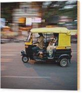 Rickshaw Wood Print