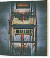 Ride The Ferris Wheel Wood Print