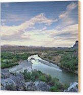 Rio Grand River Wood Print