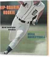 Rip-roarin Rookie Detroit Centerfielder Kirk Gibson Sports Illustrated Cover Wood Print