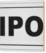 Ripon City Nameplate Wood Print