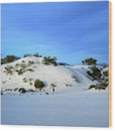 Rippled Sand Dunes In White Sands National Monument, New Mexico - Newm500 00119 Wood Print