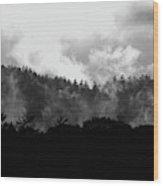 Rising Mist Wood Print