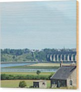 river and bridge towards Berwick upon Tweed scotland Wood Print