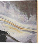 River Of Gold Wood Print