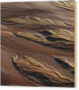 River Of Sand Wood Print