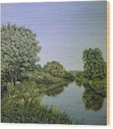 River Wey Wood Print