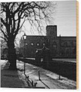 riverside walk in Haddington on winters morning Wood Print