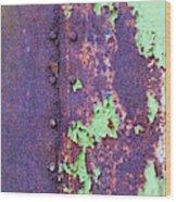 Rivets Rust And Paint Wood Print