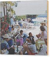Riviera Crowd Wood Print