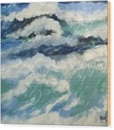 Roaring Ocean Wood Print