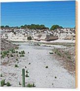 Robben Island Quarry Stone Pile Wood Print