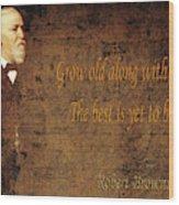 Robert Browning 1 Wood Print