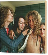 Robert Plant At The Riot House Wood Print