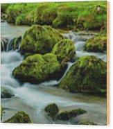 Rock Fall Wood Print