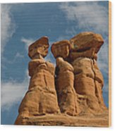 Rock Formation In Arches National Park Wood Print