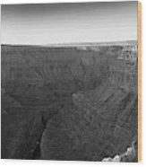 Rock Formations On The Edge Wood Print