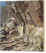 Rock Ledge Wood Print