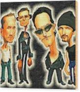 Rock N' Roll Warriors - U2 Wood Print