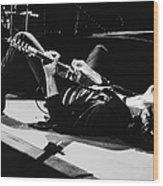 Rock Singer Bruce Springsteen In Concert Wood Print