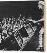 Rock Singer Tom Petty In Concert Wood Print