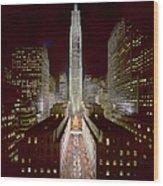 Rockefeller Center, Manhatten, At Wood Print