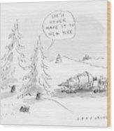 Rockefeller Christmas Tree Wood Print