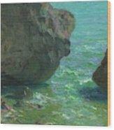 Rocks At Cap Negret Sp Wood Print
