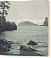 Rocky Bay On The Ocean Wood Print