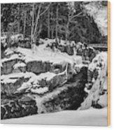 Rocky Gorge Foot Bridge N H Wood Print