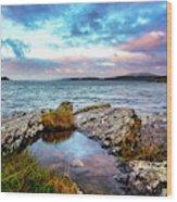 Rocky Pools Of Salty Sea Wood Print