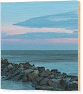 Rocky Shores Sunrise Wood Print
