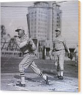 Rogers Hornsby Batting @ Spring Training Wood Print