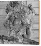 Rohan Palace Cherubs B W Wood Print
