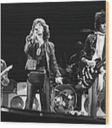 Rolling Stones On Stage Wood Print