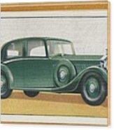 Rolls-royce 20-25 Saloon, C1936 Wood Print