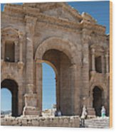 Roman Arched Entry Wood Print