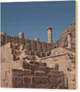 Roman Temple In Petra Wood Print