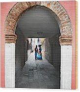 Romance In Burano Wood Print