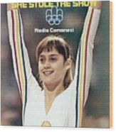 Romania Nadia Comaneci, 1976 Summer Olympics Sports Illustrated Cover Wood Print