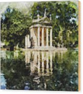 Rome, Ancient Temple Of Aesculapius - 04 Wood Print